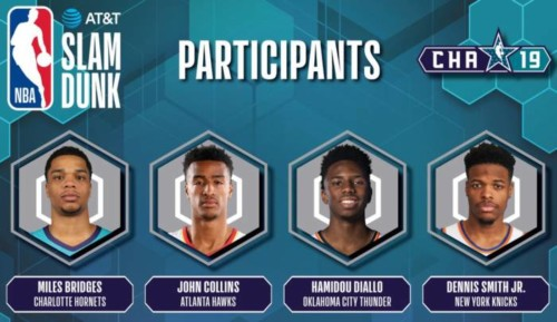 slam-dunk--500x289 Atlanta's John Collins to Join Miles Bridges, Hamidou Diallo and Dennis Smith Jr. in 2019 AT&T Slam Dunk Contest