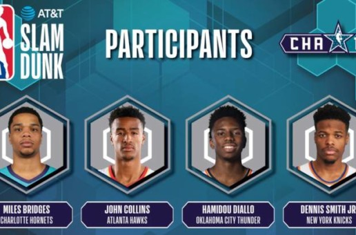 Atlanta's John Collins to Join Miles Bridges, Hamidou Diallo and Dennis Smith Jr. in 2019 AT&T Slam Dunk Contest