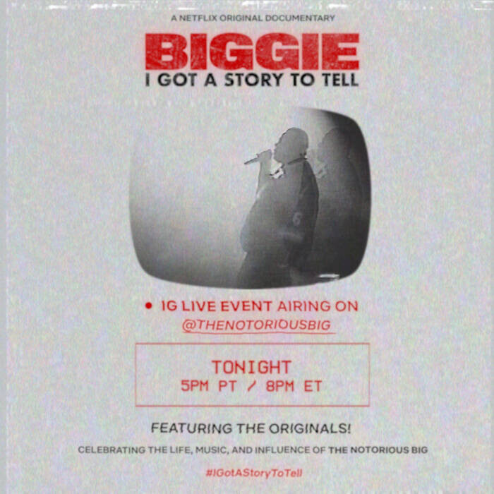 The Originals to Host IG Live Celebrating Biggie As Netflix Doc Drops