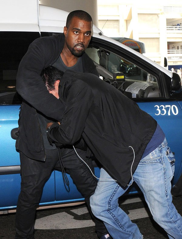 kanye-west-fight-ffn-ftr Kanye West Flexes On Yet Another Paparazzi (Video)