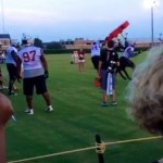 South Carolina Gamecock Jadeveon Clowney Flips A Blocking Sled During Practice (Video)