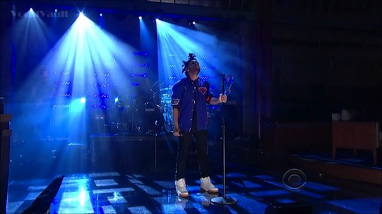 theweekndHHS1987 The Weeknd – Pretty (Live On David Letterman) (Video)