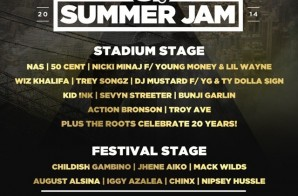 HOT 97 Summer Jam 2014 (Festival Stage & Main Stage) (Live Stream) (Video)
