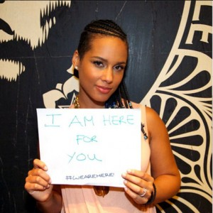 Alicia Keys Poses Nude And Pregnant For Peace [NEW MUSIC