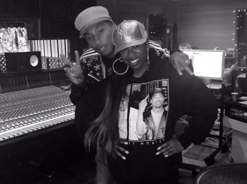 missy-elliott-pharrell-500x374 Missy Elliot And Pharrell Williams In The Studio!