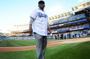 Kendrick Lamar Throws First Pitch At Dodgers Game! (Video)