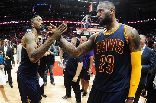 Lebron James & J.R. Smith Dominate Game 1 Of The Eastern Conference Finals Against The Hawks (Video)