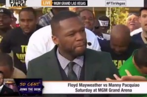 50 Cent Gives His Prediction On Who Will Win Mayweather vs. Pacquiao (Video)