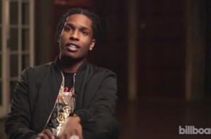 A$AP Rocky Talks Drugs, Music And 'Hippie Love' With Billboard (Video)
