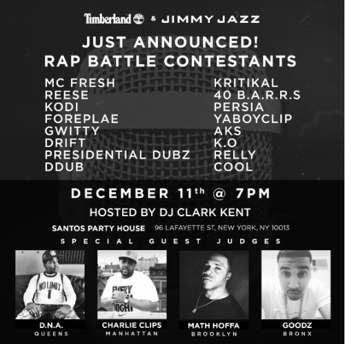 47ac7be6-fa5c-4689-8771-34ddc295668b-1-500x498 Timberland & Jimmy Jazz To Host Rap Battle In NYC!