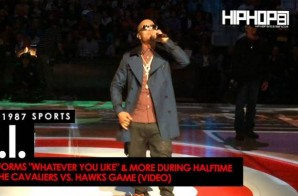 "T.I. Performs ""Whatever You Like"" & More During Halftime At The Cavaliers vs. Hawks Game (Video)"