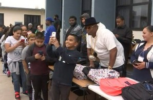 E-40 Donated $25,000 Worth of Backpacks & School Supplies to Vallejo School in California