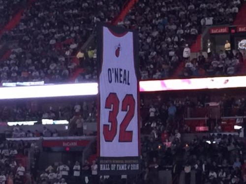 shaq-500x375 Miami Vice: The Miami Heat Retire Shaquille O'Neal's #32 Jersey (Video)