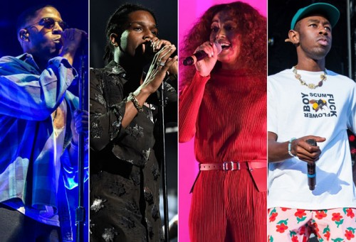 cudi-rocky-solange-tyler-500x341 Migos, Kid Cudi, A$AP Rocky, Solange & More To Perform at Camp Flog Gnaw Carnival!
