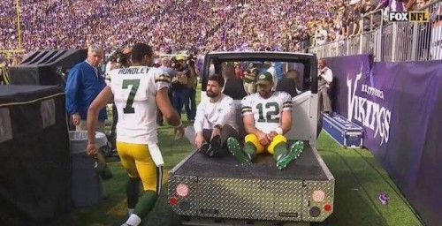 Aaron-1-500x256 Who Cut The Cheese: Green Bay Packers QB Aaron Rodgers Could Miss The Rest of the Season With a Broken Collarbone
