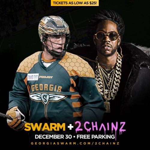 It's a Vibe: 2 Chainz Will Perform at Halftime  the Georgia Swarm's Home Opener on Dec. 30th