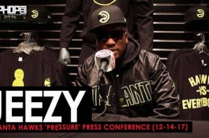"Jeezy Talks 'Pressure', ""American Dream"" Ft. Kendrick Lamar & J. Cole, the Atlanta Hawks & More (Atlanta Hawks 'Pressure' Press Conference) (Video)"