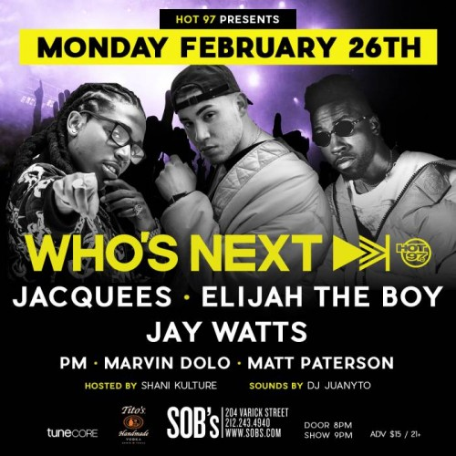 "whosnext-2-26-500x500 Hot 97's ""Who's Next"" w/ Jacquees, Elijah The Boy & Jay Watts!"