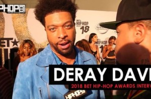 DeRay Davis Talks Lil Wayne, Hosting the Awards, the Chicago Bears & More at the 2018 BET Hip-Hop Awards Sprite Green Carpet (Video)