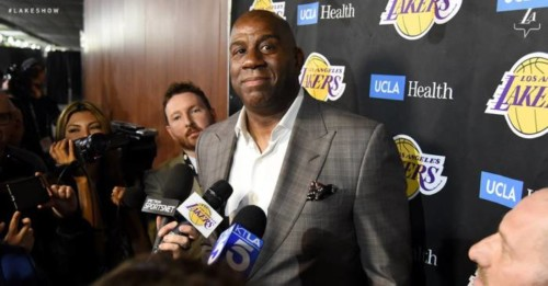 Magic-Johnson-500x261 A Magical Disappearing Act: Magic Johnson Has Stepped Down as the Los Angeles Lakers Team President