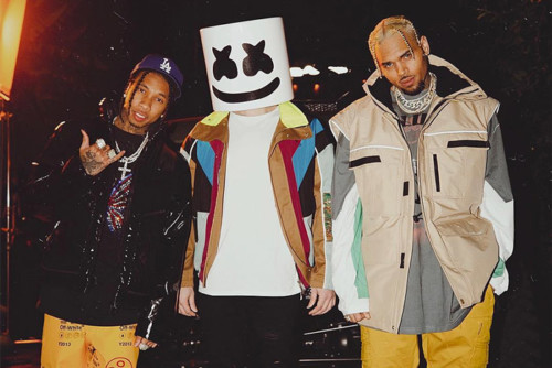 tyga-marshmello-chris-brown-500x334 Marshmello, Chris Brown & Tyga - Light It Up (Video)