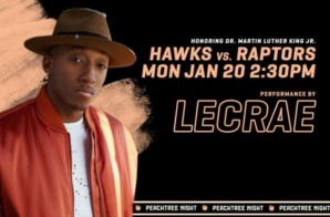 Inspirational Hip-Hop Artist Lecrae Will Perform at the Annual Atlanta Hawks MLK Day Game on Monday, Jan. 20 vs. Toronto