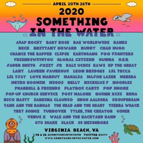 "4591F3A2-7F56-44F7-AC84-6A0BA81DB155-500x497 A$AP Rocky, Chance The Rapper, Post Malone & More Set To Hit The Stage At ""Something In The Water Festival"" 2020"