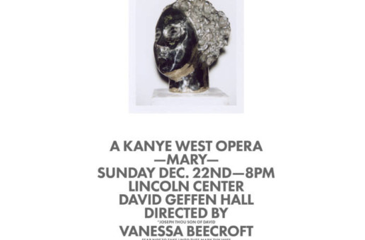 "Kanye West Brings Opera ""Mary"" to Lincoln Center on Dec. 22nd (NY)"