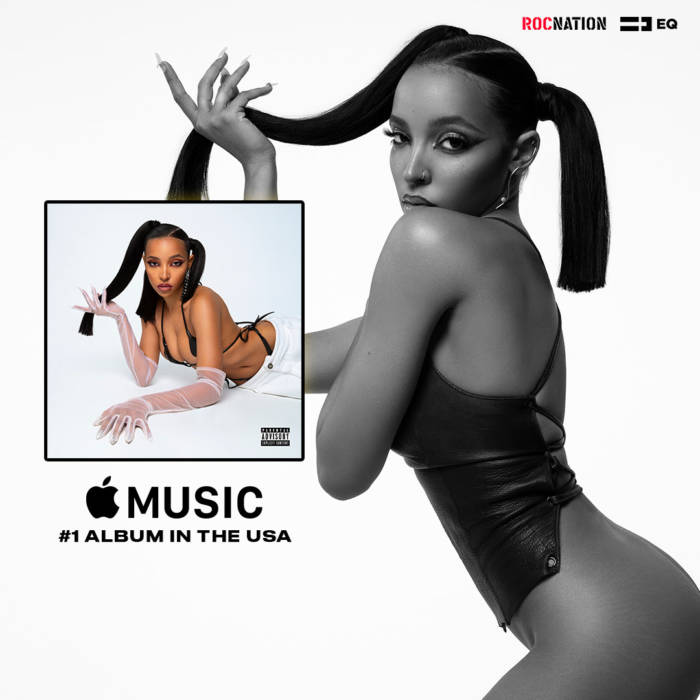 Congratulations, Tinashe for the #1 Album on Apple Music USA!