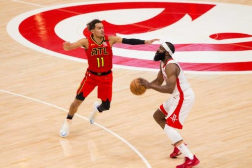 Hawks-Rockets-2-500x334 Houston, We Have a Problem: James Harden's 40 Points Triple-Double Fuels the Rockets Pass The Hawks (122-115)