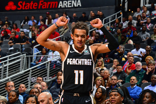 Trae-Young--500x333 Everyday A Star Is Born: Atlanta's Trae Young Leads Eastern Conference Guards in First Fan Returns of NBA All-Star Voting