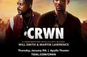 "Will Smith & Martin Lawrence To Discuss ""Bad Boys For Life"" For TIDAL's CRWN Interview (NYC)"