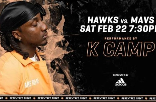 "Atlanta's Own K Camp Brings His TikTok Sensation ""Lottery (Renegade)"" To Hawks Peachtree Night on Saturday, Feb. 22"