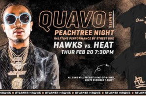 "Street Bud Headlines ""Quavo Night"" As the Hawks Take On the Miami Heat Tonight, Feb. 20"