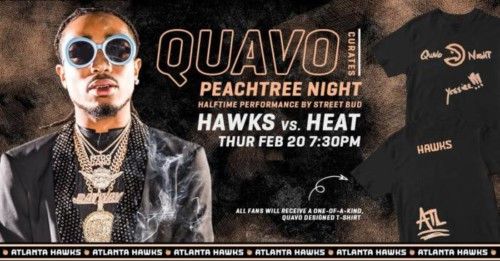 "Quavo-500x261 Street Bud Headlines ""Quavo Night"" As the Hawks Take On the Miami Heat Tonight, Feb. 20"