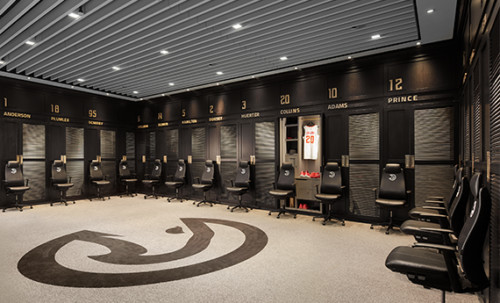 leather-fern-chairs-in-atlanta-hawks-locker-room-500x303 You Can't Touch This: Professional Sports Leagues Temporarily Limit Locker Room Access Due To Coronavirus Concerns
