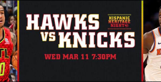 The Atlanta Hawks Have Partnered With Z-105.3 To Host The Second Annual Hispanic Heritage Night On Friday, March 11 vs. The New York Knicks