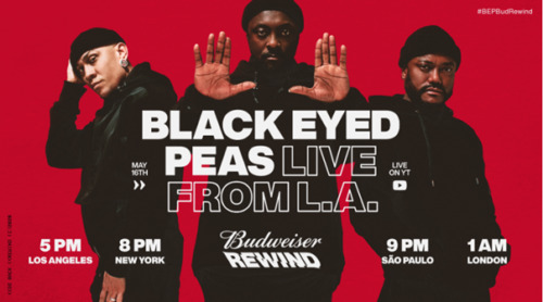 "Budweiser-cover-500x278 Budweiser Announces Their Livestream Music Series ""Budweiser Rewind"" featuring Black Eyed Peas Set to Kick It Off This Saturday Night"