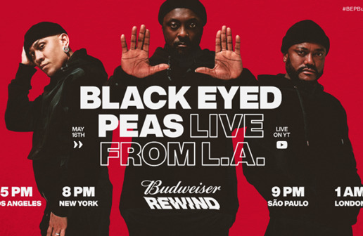 "Budweiser Announces Their Livestream Music Series ""Budweiser Rewind"" featuring Black Eyed Peas Set to Kick It Off This Saturday Night"
