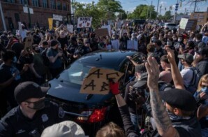 Detroit Police Car Drives Through Crowd of Black Lives Matter Protesters