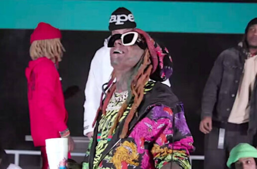Lil Wayne rides high inside the skate park in Thug Life video