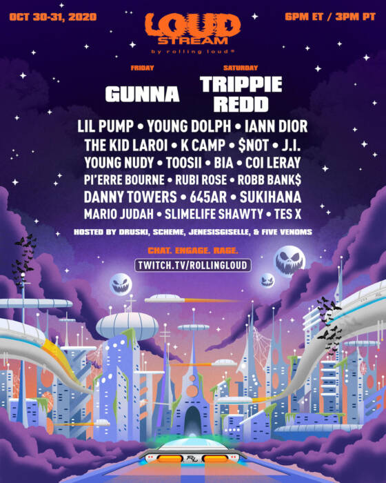 "unnamed-19 Trippie Redd, Gunna, Young Dolph, Lil Pump & more to perform on Rolling Loud's Halloween ""Loud Stream"""