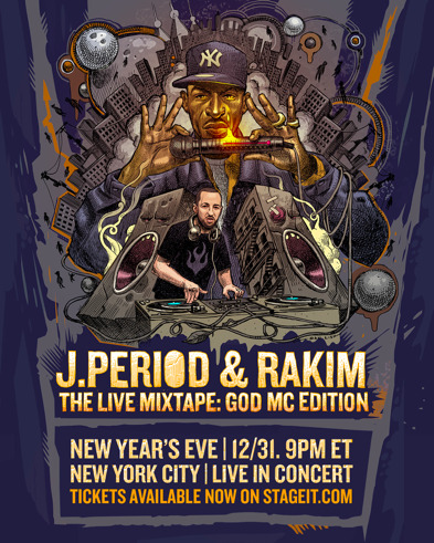 "unnamed-4-2 Hip Hop Icon RAKIM & J.PERIOD Announce NYE Show ""The Live Mixtape: God MC Edition"""
