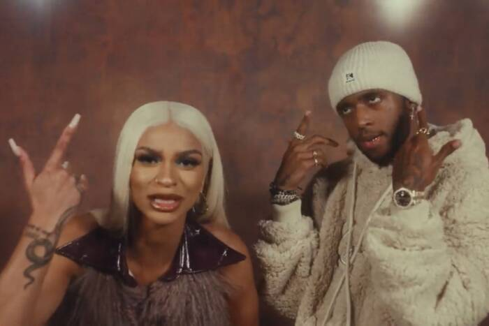 "image18 In ""You Ain't Worth It"" visual, Melii and 6lack move on"