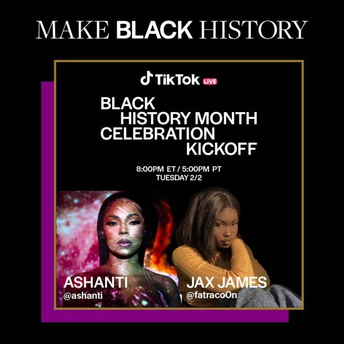 Ashanti Ashanti Kicks Off TikTok's Black History Month Celebration