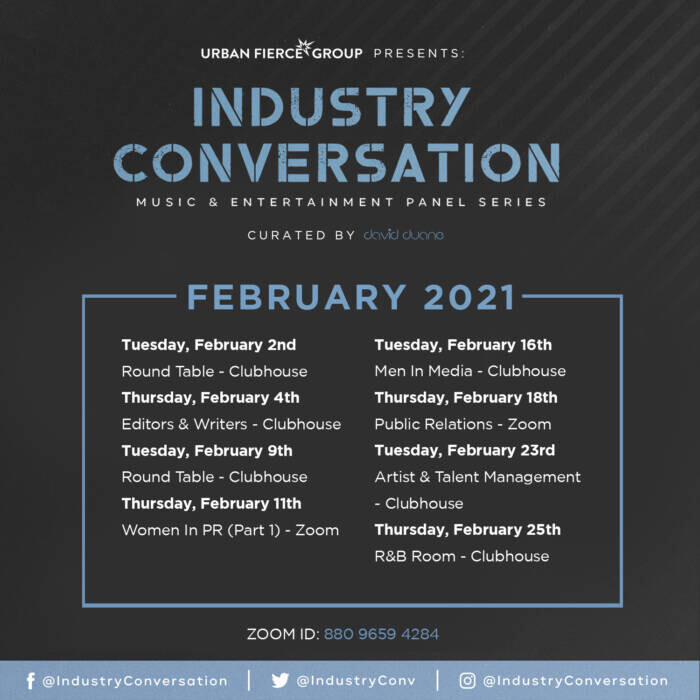 industryconv_feblist Urban Fierce Group Is Back With Their Music Industry Panel Series: Industry Conversations
