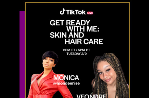 TONIGHT Monica Shares Beauty Tips for TikTok's Black History Month Celebration