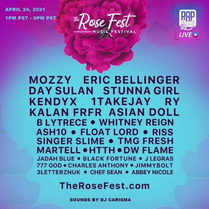 "image Introducing ""The Rose Fest"" First Post-Covid Music Festival APRIL 24"